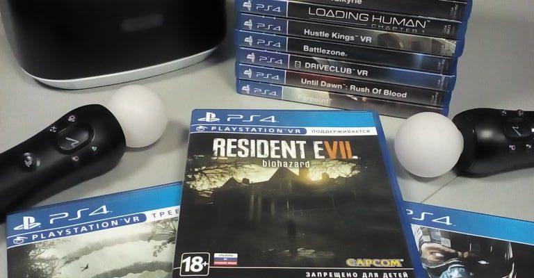 PS4VR комплект и игры в минске